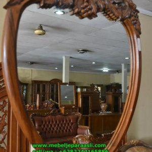Cermin Hias Dinding Ukiran Anggur
