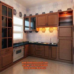 Kitchen Set Jati Minimalis Terbaru