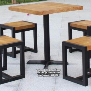 Set Meja Cafe Kaki Besi