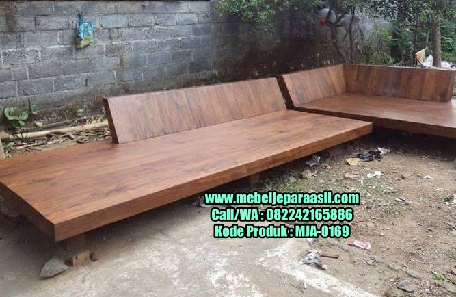 Kursi Sudut Santai Kayu Solid-MJA-0169-Mebel Jepara Asli