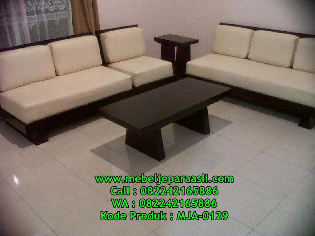 Kursi Tamu Sudut Trembesi solid-MJA-0129-Mebel Jepara Asli