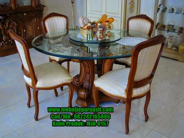 Set Kursi Makan Mewah Jati Jepara-MJA-0157-Mebel Jepara Asli