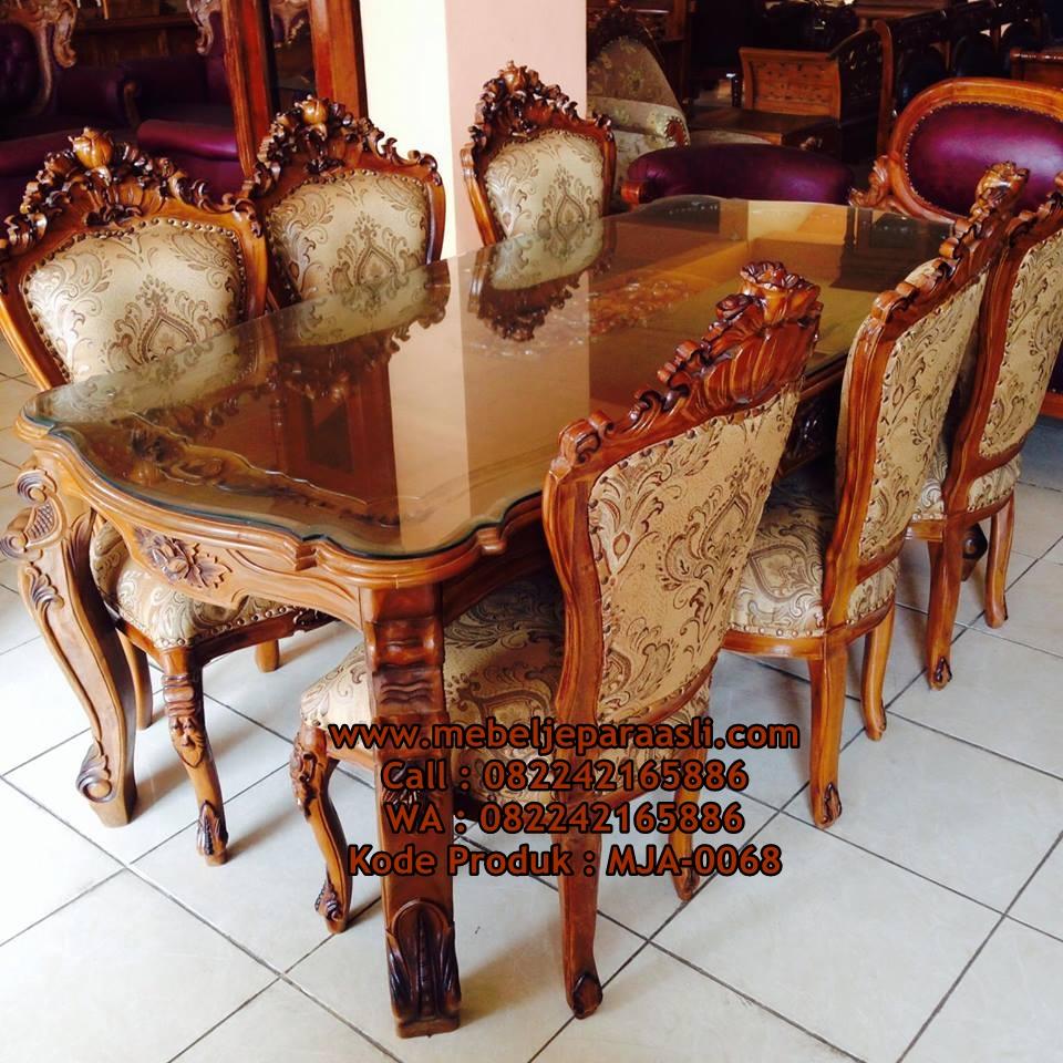 Set-Kursi-Makan-Ukir-Ganesa-Jati-MJA-0068-Mebel-Jepara-Asli