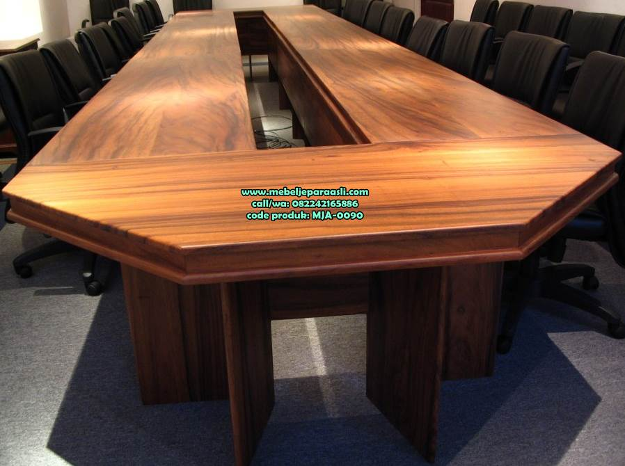 meja rapat kayu solid
