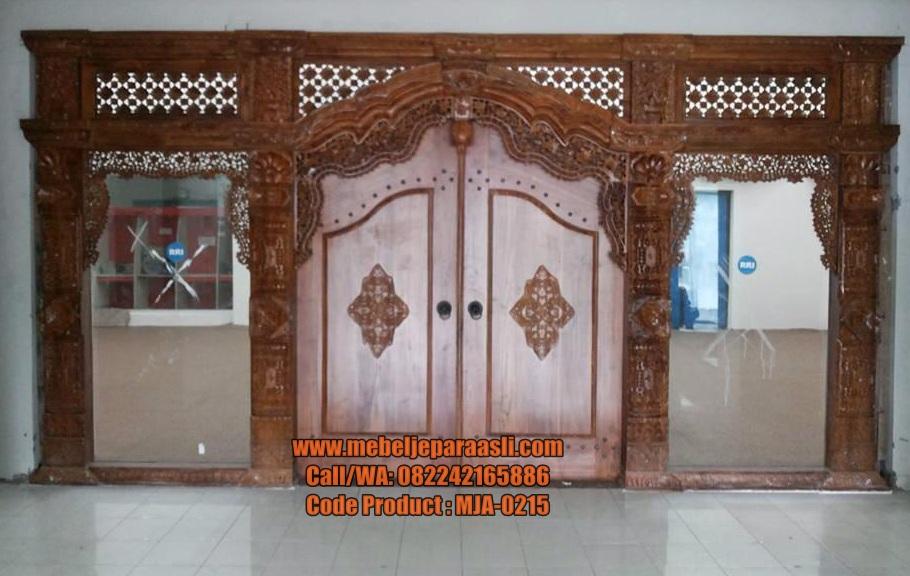 Jual Gebyok Pintu Jati Jepara-MJA-0215-Mebel Jepara Asli