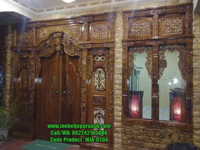 Set Pintu Rumah Gebyok-MJA-0204-Mebel Jepara Asli