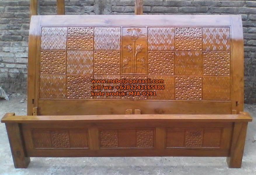Dipan Minimalis Ukir Jati