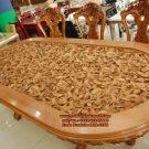 Set Meja Makan Ukiran 3D Jepara