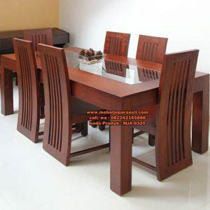 Set Meja Makan Jati Solid Terbaru