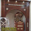 Mimbar Masjid Kubah Ukiran Kaligrafi