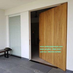 Pintu Rumah Minimalis Kayu Jati Solid