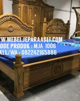 Tempat Tidur Kayu Jati Stupa, tempat tidur kayu jati, tempat tidur stupa, tempat tidur jati, model tempat tidur