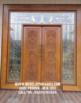 pintu utama ukiran 3d, pintu utama kayu jati, pintu utama ukiran full, pintu rumah kayu jati, pintu utama rumah, pintu utama mewah, pintu rumah mewah