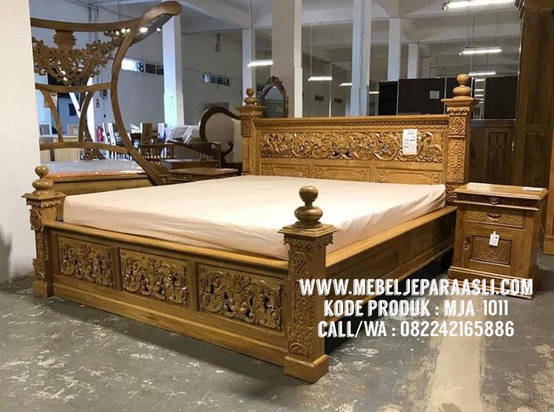 tempat tidur model gebyok, tempat tidur gebyok, tempat tidur mewah, tempat tidur model mewah, tempat tidur ukir gebyok, tempat tidur model kerawangan, tempat tidur kayu jati
