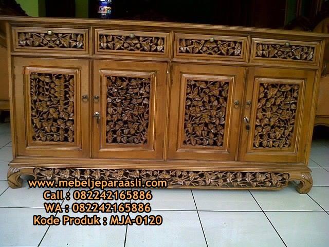 Bufet Ukir Palembang-MJA-0120-Mebel Jepara Asli
