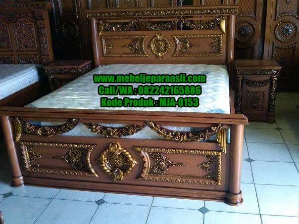Dipan Ukiran Selendang Mawar-MJA-0153-Mebel Jepara Asli