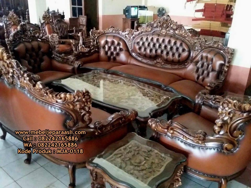 Kursi Tamu Mewah Ukir Relief-MJA-0118-Mebel Jepara Asli