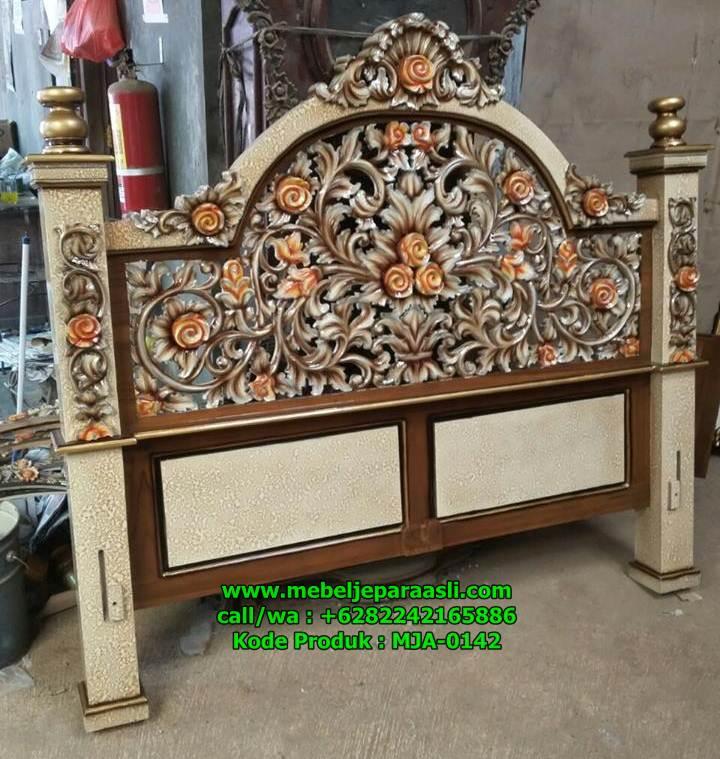 Dipan KDI Ukir Jepara Finishing Combinasi Marmer