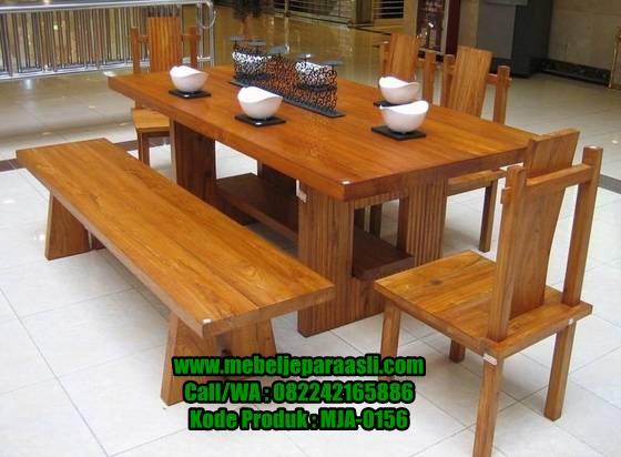 Set Meja Makan Jati Solid-MJA-0156-Mebel Jepara Asli