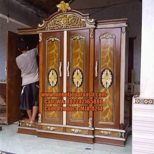 Jual Lemari Pakaian Jemani-MJA-0214-Mebel Jepara Asli
