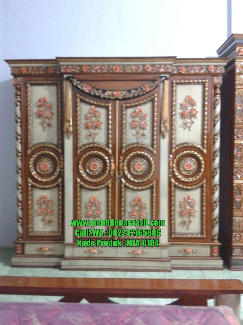 Lemari Pakaian Sendang Mawar-MJA-0184-Mebel Jepara Asli