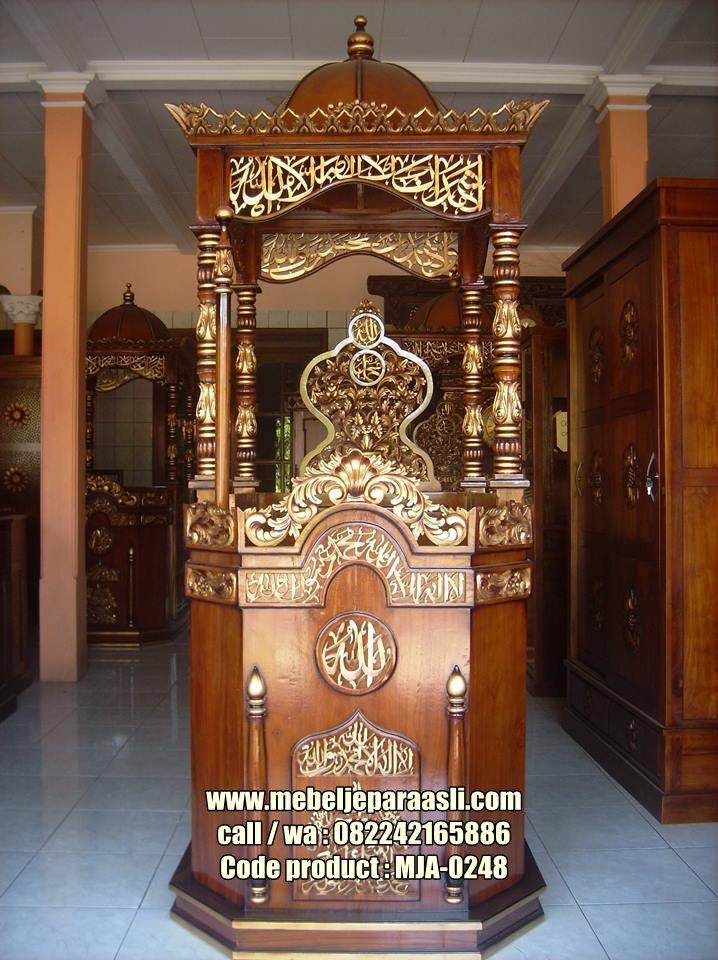 Mimbar Masjid Jati Terbaru-MJA-0248-Mebel Jepara Asli