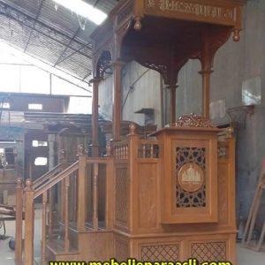 Mimbar Masjid Kubah Minimalis Tangga Samping